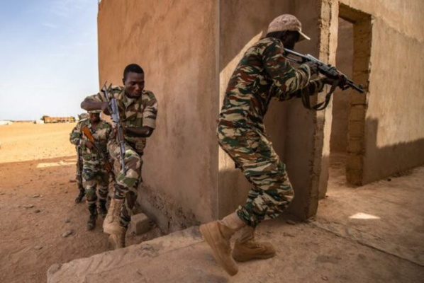Soldats nigériens entraînés par l'US. Air Force en juillet 2019 à Agadez (image d'illustration) © US. Air force